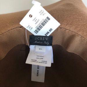 J. Crew Accessories - J Crew Women's Tan Brimmed Italian Wool Hat NWT